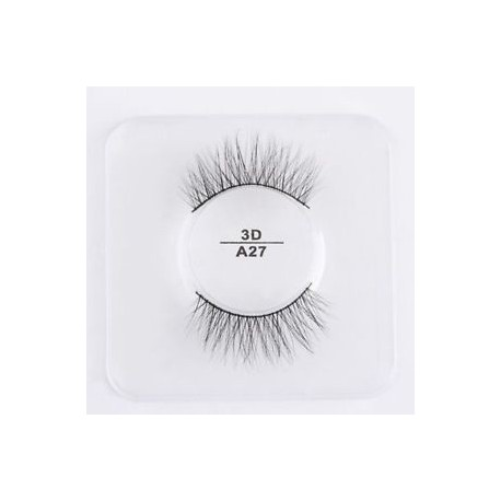A27 - 1 pár Mink Hair False szempillák Wispy Természetes Long Cross Lashes Extension Tools