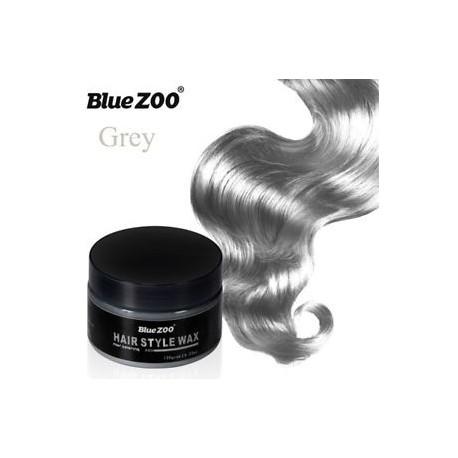 Szürke - 7Colors Ideiglenes hajfesték krém Unisex Hair Color Viasz Sár Nagymama Grey Wax Sár