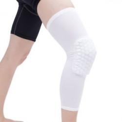 Fehér-XL - Antislip kosárlabda láb térdvédő Crashproof hosszú ujjú hajtómű Méhsejt pad