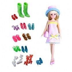 12 pár Különböző szín magassarkú cipő Barbie baba