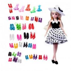 40 pár Különböző szín magassarkú cipő Barbie baba