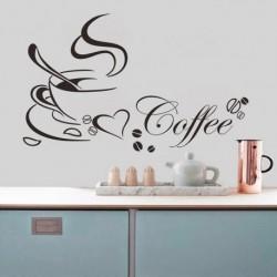 Romantikus Kávé Fali matrica Vinyl dekoráció