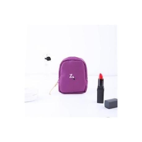 Lila - Mini Smink Kozmetikai Toalett cikkek erszényes táska Szervező tok tok Pénztárca Utazás
