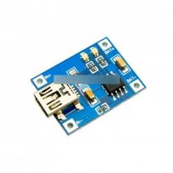 2db TP405 5V Mini USB 1A lítium akku töltő  modul