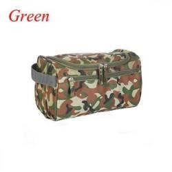 Zöld - Férfiak Nők Smink Utazás Hanging Wash táska Cosmetics Vízálló Nylon Toiletry Bag
