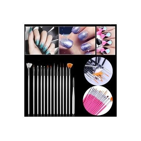 3d6d26dac8 15Pcs / Set Nail Art Akril UV Gel Design Ecset készlet Festék Pencil Tips  Tool Kit
