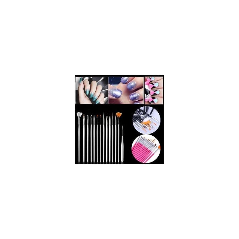 920aa8b6ed 15Pcs / Set Nail Art Akril UV Gel Design Ecset készlet Festék Pencil Tips  Tool Kit ...