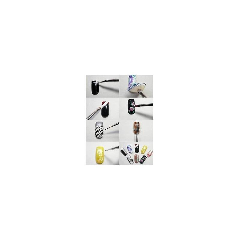 6c10278637 ... 15Pcs / Set Nail Art Akril UV Gel Design Ecset készlet Festék Pencil  Tips Tool Kit ...