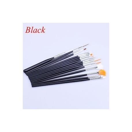 c1fdd759a9 Fekete - 15Pcs / Set Nail Art Akril UV Gel Design Ecset készlet Festék  Pencil Tips Tool Kit