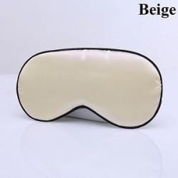 Bézs - Női férfiak Pure Silk Sleep Eye Mask Árnyékolás Fedél Relax Aid Blindfold Patch