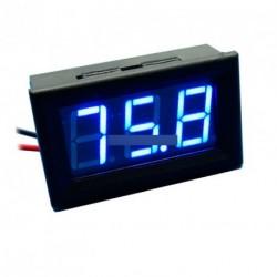 Kék LED Panel Mini digitális voltmérő DC 0 -99.9V