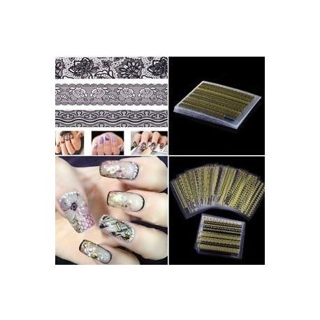 Női dekoráció tippek Manikűr eszközök Nail Art matricák 3D-s matricák csipke virág