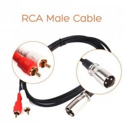 1,5m Y elosztó Patch 1 XLR aljzat 2 RCA kábel