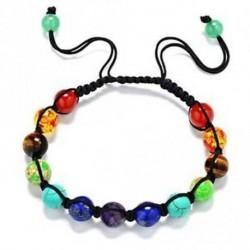 2 - Balance Treatment 8mm gyöngyök karkötő Aurastone 7 Chakra Seven-color Rainbow
