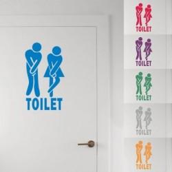 Férfi Nő Toalett WC matrica családi DIY dekoráció