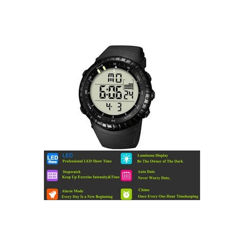 3632fded8f FEKETE - Intelligens órák férfiak 50M Vízálló óra katonai sport digitális  karóra
