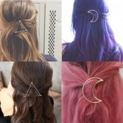 Lány punk Hold háromszög  haj csat klip női divat