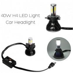 2X40W (80W) H4 8000LM LED fényszóró Izzó szett Fehér