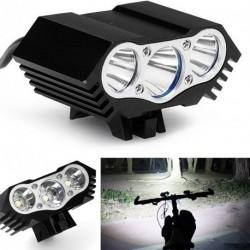 8500Lm Hármas kerékpár lámpa - CREE T6 LED - 4 üzemmóddal