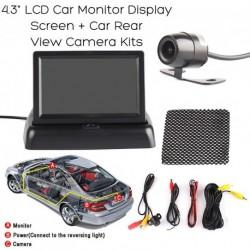 "4,3"" TFT LCD monitor + Car Backup Tolatókamera"