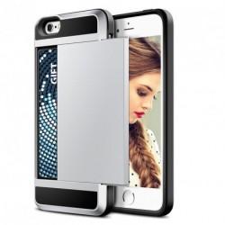 Ütésálló szilikon tok+ kártyafoglalat iPhone 6 6S+