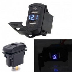 Rocker stílus Dual USB  voltmérő 4.2A autós töltő