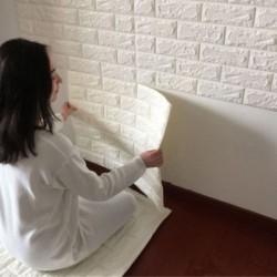 3D Rugalmas Kő minta tégla fal tapéta öntapadós