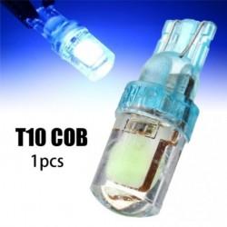 1db T10 COB LED autó szuper fényes jégkék szilícium-dioxid-fényszóró 194 W5W