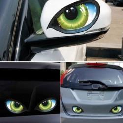 Autók 3D-s szörnyű szemek szemüveg dekor matrica