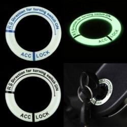 színes éjjellátó fény Világító gyújtáskapcsoló matrica Glow kulcsgyűrű furat fedele