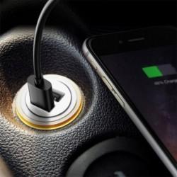 Autó teherautó kétcsatornás USB Mini töltő adapter telefon Fekete 12V teljesítmény