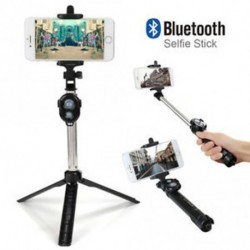 Expandable Selfie Stick állvány Vezeték nélküli távirányító Bluetooth szünet Fit IOS Android