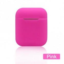 Rózsaszín - Slim fülhallgató táska szilikon tok védő bőrtáska burkolat csomagolás AirPods
