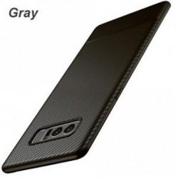 Szürke - Slim Carbon Fiber Shockproof Soft TPU tok hátlapja A Samsung Galaxy Note 8-hoz