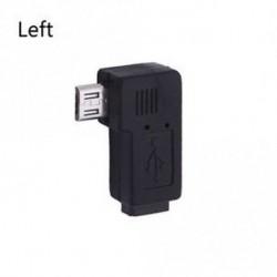 Adapter bal és jobb USB Micro-B Male to Dugaszoló konverter 90 fokos szög