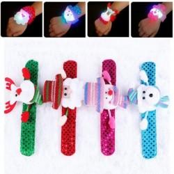 1x Karácsonyi LED világítós Káprázatos játék gyerek mintás csuklópánt karkötő ékszer kiegésíztő