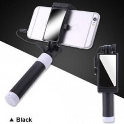 Telefon tartó tükör Selfie Stick monopod IPhone Samsung Huawei Xiaomi