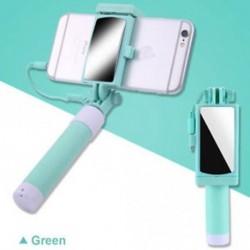 Zöld - Telefon tartó tükör Selfie Stick monopod IPhone Samsung Huawei Xiaomi