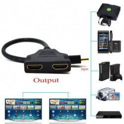 1080P HDMI port Férfi - 2 Női 1 2 Out elosztó kábel Adapter konverter