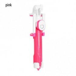 Rózsaszín - Kézi állvány Selfie Stick Bluetooth zár távvezérlő kamera bővíthető