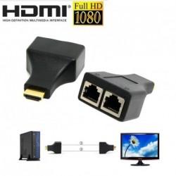 HDMI kétportos RJ45 hálózati kábel Extender Over Cat 5e / 6 1080p akár 30m átjátszó 1db