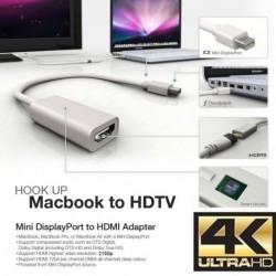 4K felbontás Thunderbolt Mini DisplayPort DP-HDMI adapter Apple Macbook Pro Air Mac