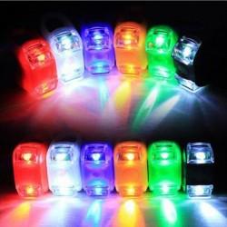 2 LED Bike Kerékpár szilikon Head első kerék hátsó villanófény lámpa több szín 1 db
