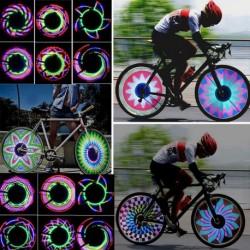 36 LED Kerékpár Motorkerékpár Autó gumiabroncs szelep Küllő villogó fény