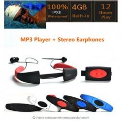 Vízálló Sport MP3 lejátszó fülhallgató úszásra Szörf Búvárkodás 4G / 8G 1db több szín