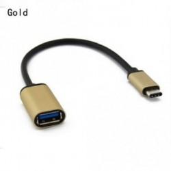 ARANY - USB-C 3.1 Típus C Male to USB 3.0 adapter OTG Data Sync töltő kábel OTG kábel