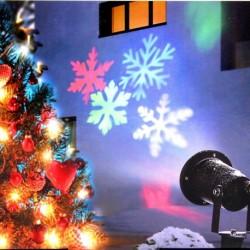 1x LED Lézer csillag hópehely Karácsonyi Otthon kert világítás zuhany kültéri dekoráció