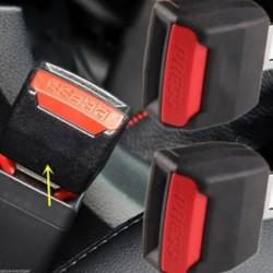 2Pcs teherautó rész fekete autó belső hosszabbító üléshuzat biztonsági csattal