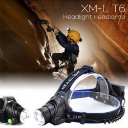 1x XM-L T6 LED fényszóró Vízálló 2000Lm Lámpa Kültéri 18650