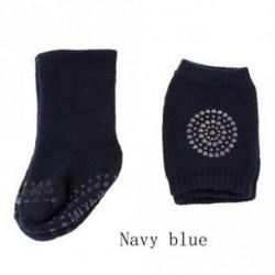 Méret SïĽ? Navy blueïĽ ‰ - 1 Set Bébi Zokni Térd Pad Divat Puha Tipegő Anti Slip Zokni Térdvédő